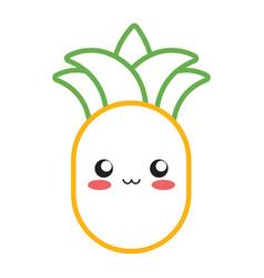kawaii pineapple vector image