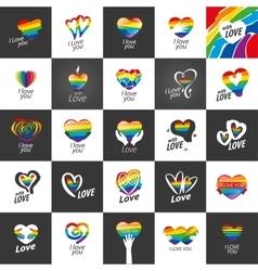 logo heart and rainbow vector image