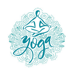 lotus yoga pose abstract colorful vector image