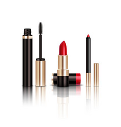 makeup items set vector image