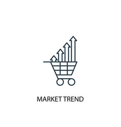 Market trend concept line icon simple element vector
