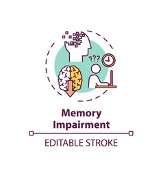 Memory impairment concept icon vector