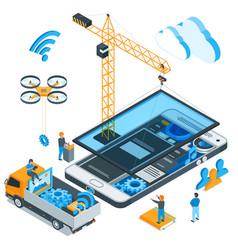 mobile app development concept 02 vector image