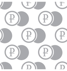 New Rouble coin seamless pattern vector image