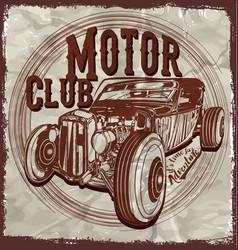 Old american vintage classic retro man t vector