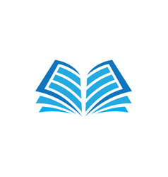 Open book logo education vector
