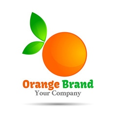 orange logo design Template for your business vector image