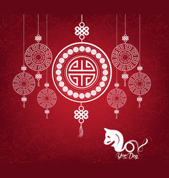 Oriental happy chinese new year pattern design vector