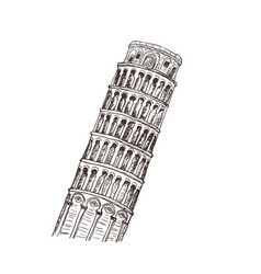 pisa sight of italy sketch vector image