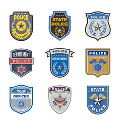 Police shield government agent badges and police vector