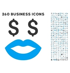 Prostitution smiley icon with flat set vector