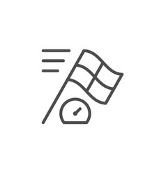 racing line icon vector image