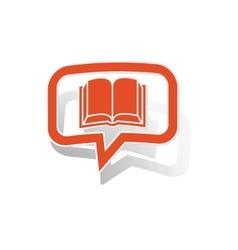 Read message sticker orange vector
