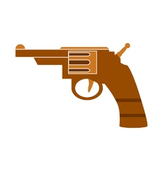 Revolver symbol icon on white vector