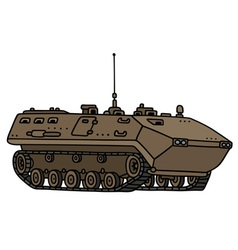 Sand track troop carrier vector image