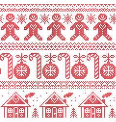Scandinavian nordic seampless pattern with ginger vector image