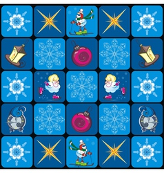 Seamless Christmas pattern with snowflakes vector