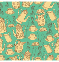 seamless pattern with jugs vector image