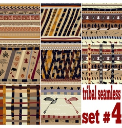 Seamless set traditional patterns vector