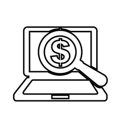 search money online isolated icon design vector image