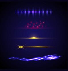 set elements light effect vector image