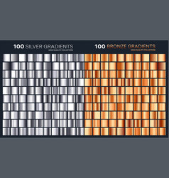 silverbronze gradientpatterntemplateset of vector image