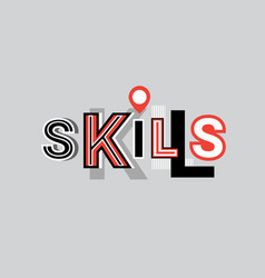 Skills personal development web banner abstract vector