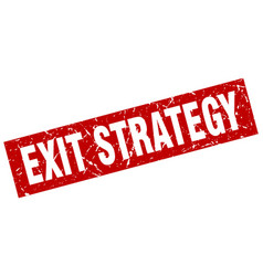 Square grunge red exit strategy stamp vector