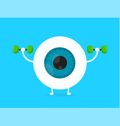 strong healthy white eye eyeball vector image