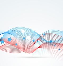 stylish wave design vector image