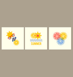 summer is coming poster set design template with vector image