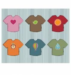 t-shirt designs vector image