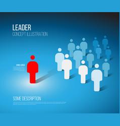 Team leader concept vector