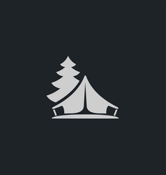 Tent icon simple vector