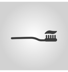 The toothbrush icon toothpaste symbol Flat vector image