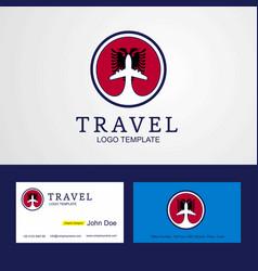 Travel albania creative circle flag logo and vector