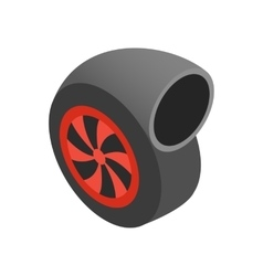 Turbocharger isometric 3d icon vector