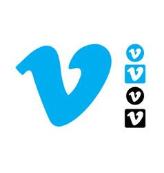 Vimeo editorial logo set vector
