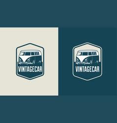 vintage car logo template vector image