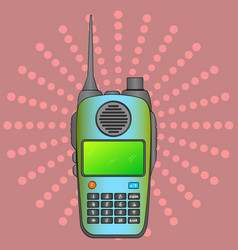 walkie talkie radio station portable receiving vector image