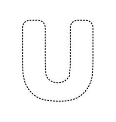 letter u sign design template element vector image
