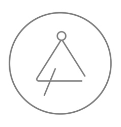 Triangle line icon vector image