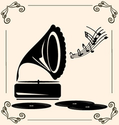 vintage music vector image vector image