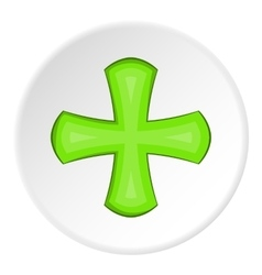 Green cross icon cartoon style vector