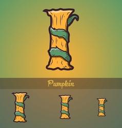Halloween decorative alphabet - I letter vector image vector image