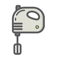 hand mixer colorful line icon household vector image
