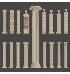 pillar column roman greek architecture vector image