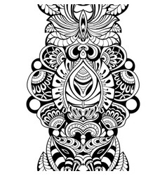 seamless pattern with floral element vector image vector image
