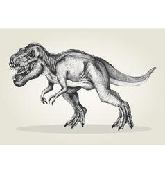 Sketch of a tyrannosaurus rex vector image vector image