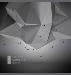 Abstract geometric shape triangular Crystal vector image vector image